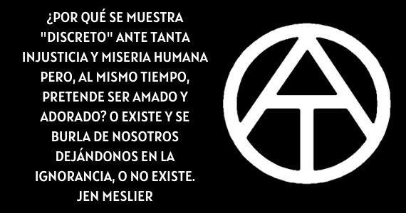 iglesia meslier ateismo dios anarquismo
