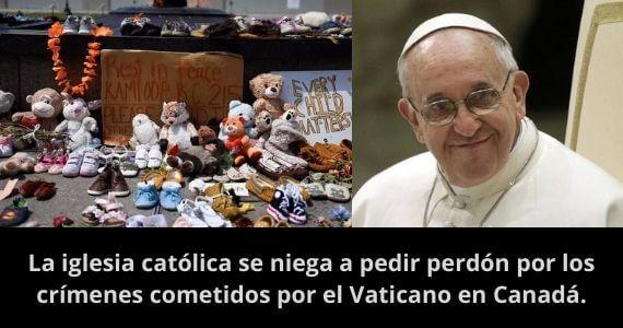 canada exterminio indigena iglesia vaticano cristiano
